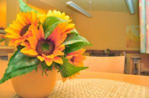 Blumen in der Ruhrtalklinik