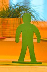Grünes Männchen in der Ruhrtalklinik