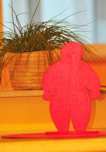 Rotes Männchen in der Ruhrtalklinik